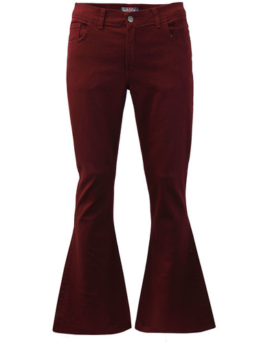 madcap england 13th floor bellbottom flares bordo