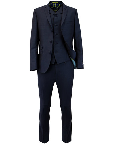 madcap england retro mod mohair 3 button suit navy