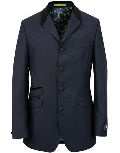 madcap england 4 button mohair suit jacket navy