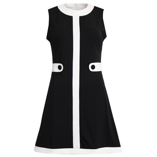 Madcap England á Gogo 1960s Mod Mini Dress with Side Tabs in Black