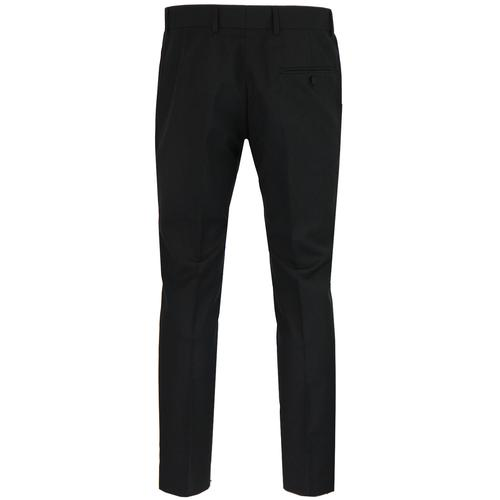 Madcap England Retro Mod Slim Mohair Suit Trousers in Black
