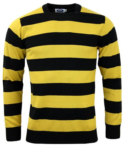 MADCAP ENGLAND RETRO MOD BRIAN JONES JUMPER YELLOW