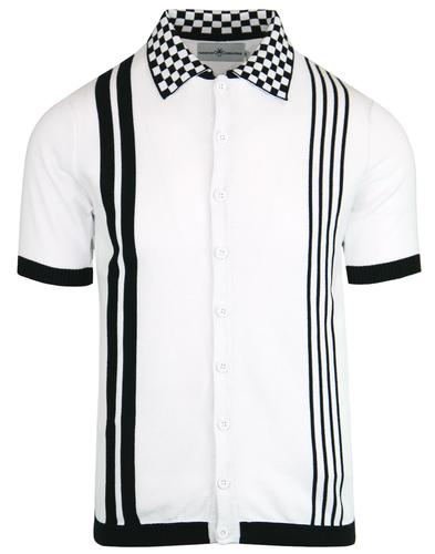 madcap england mod checkerboard collar polo top