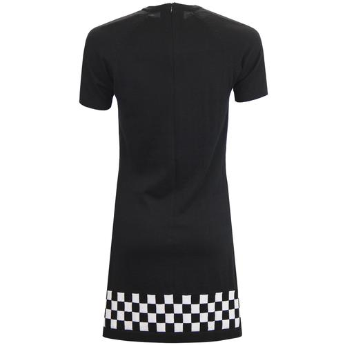 madcap england 60s mod checkerboard knitted dress