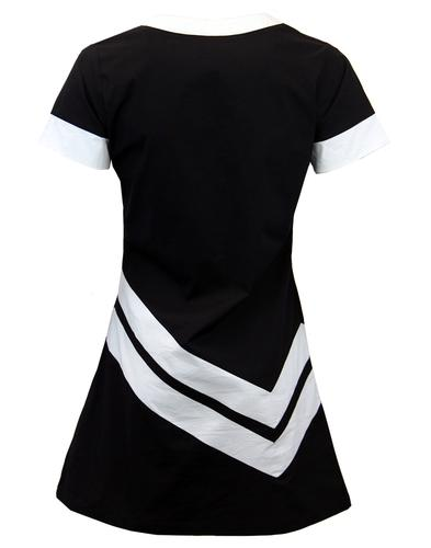 MADCAP ENGLAND RETRO MOD CHEVRON DRESS BLACK