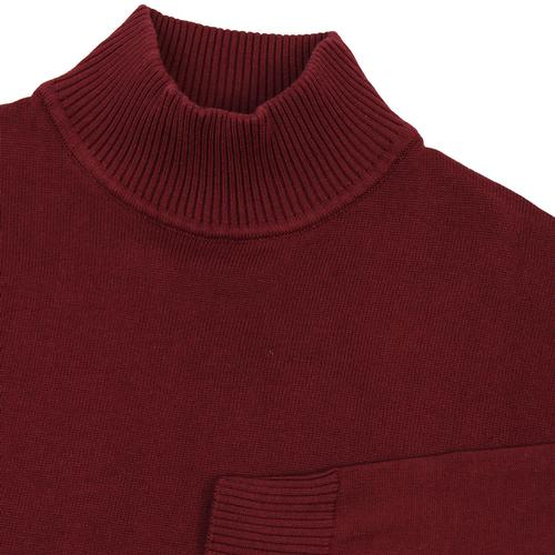 madcap england eastwood mod turtleneck jumper wine