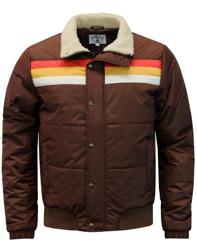 madcap england edge retro stripe panel ski jacket