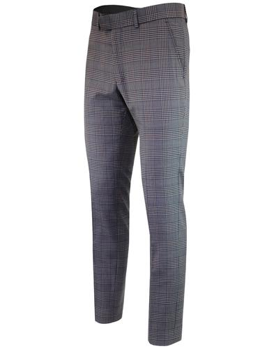 madcap england pow check mod suit trousers grey