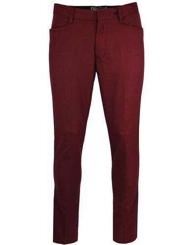 madcap england logan slim hopsack trousers bordo