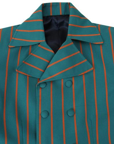 madcap england double breasted 60s mod blazer teal