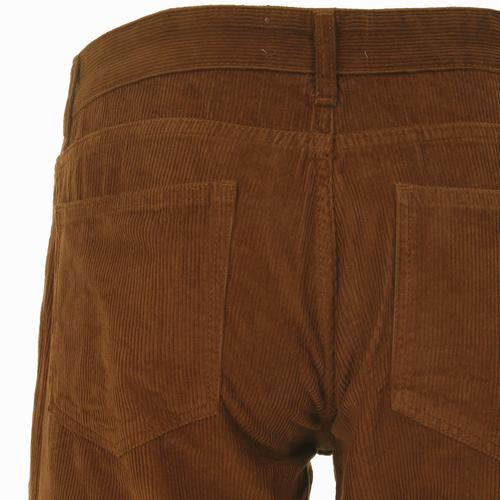 Madcap England Killer Retro 1970s Indie Cord Flares in Dark Tan
