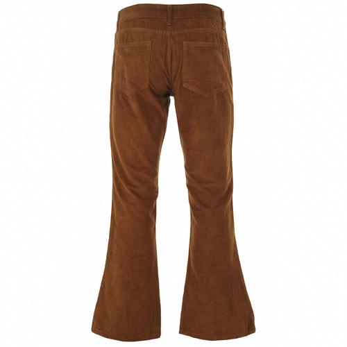 Madcap England Killer Retro 70s Cord Flares in Dark Tan