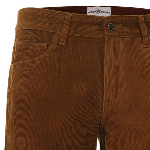 Madcap England Killer Retro 70s Indie Cord Flares in Dark Tan