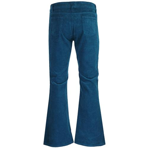 Madcap England Killer Men's Retro 1970s Corduroy Flares in Ink Blue
