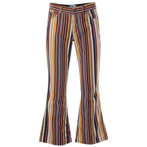 Madcap England Killer Stripe Men's Retro 70s Cord Flares