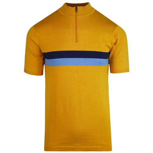 madcap england lynex mod stripe cycling top gold