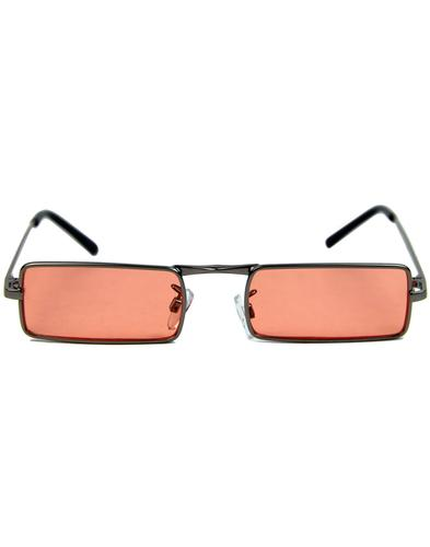 8b04d0c120 McGuinn Retro 60s Psychedelic Square Frame Mod Sunglasses in Orange