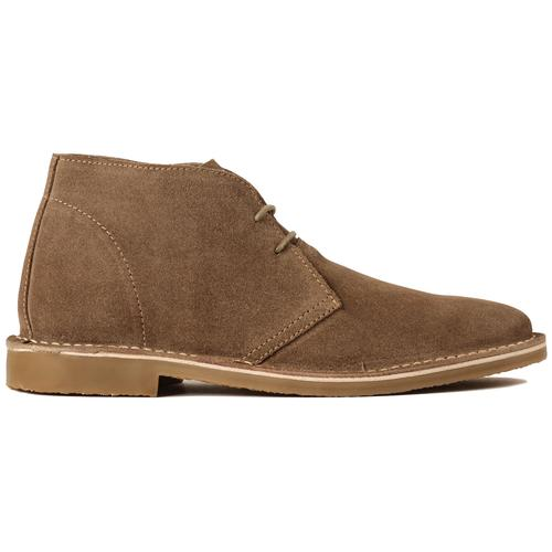 Madcap England Meaden Men's 1960s Mod Suede Desert Boots in Brown