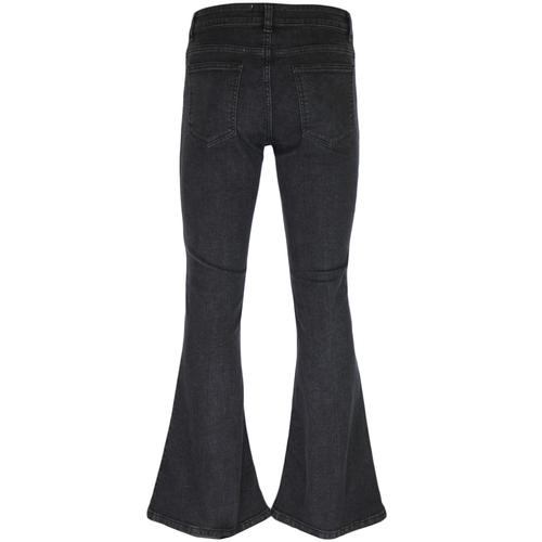 Madcap England New Rock Stretch Retro 70s Denim Bellbottom Flares in Black