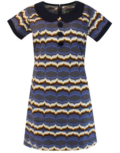 Dollierocker Waves MADCAP ENGLAND 60s Mod Dress