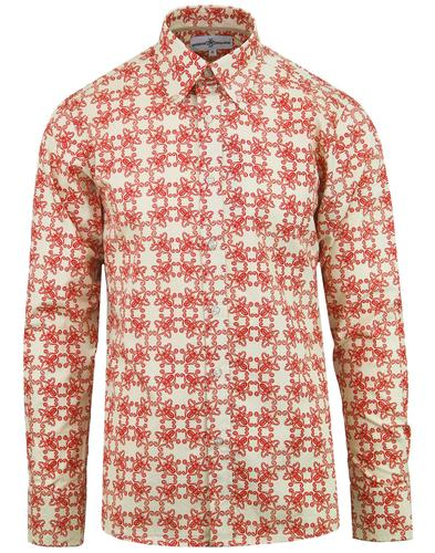 madcap england octopus ride retro mod shirt red