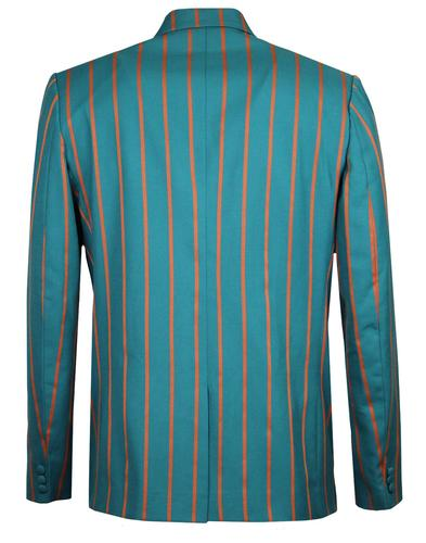 madcap england offbeat 60s mod boating blazer teal