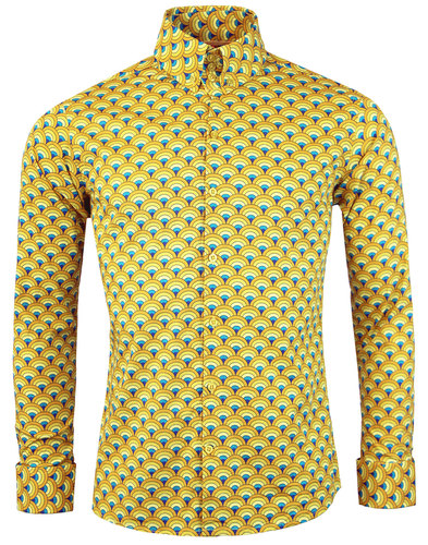 madcap england peacock retro 60s mod op at shirt
