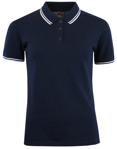 madcap england lottie womens retro pique polo navy