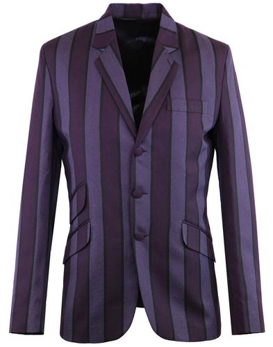 Madcap England offbeat mod boating blazer purple