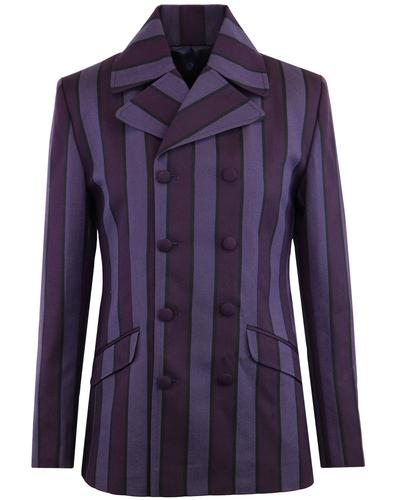 Madcap England Backbeat retro mod db blazer purple