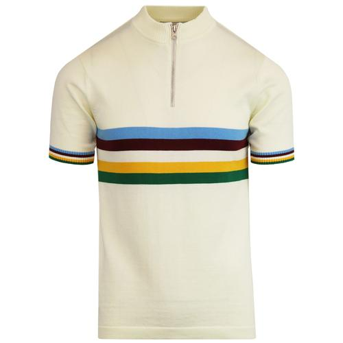 madcap england velo mod rainbow cycling top white