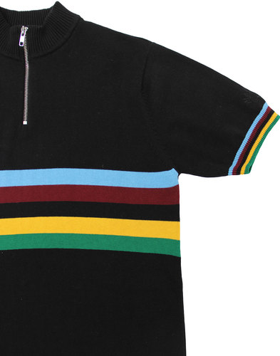 madcap england velo mod rainbow stripe cycling top