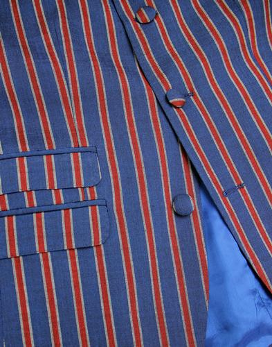 madcap england regatta stripe 3 button suit jacket