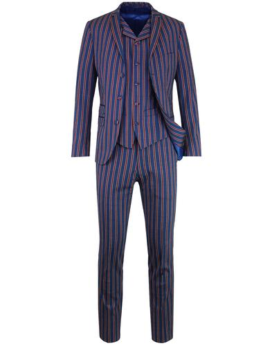 madcap england regatta stripe 3 button mod suit
