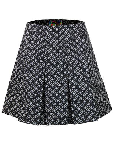 madcap england retro mod pleated geo tennis skirt