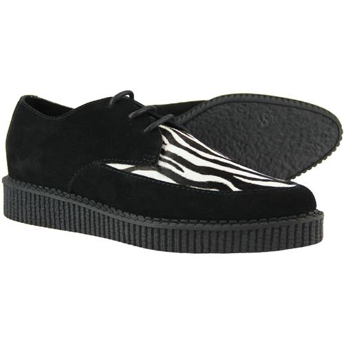 Madcap England Rocket Mens Retro Zebra Print Creeper Shoes