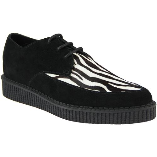 Madcap England Rocket Womens Zebra Retro Rockabilly Creeper Shoes