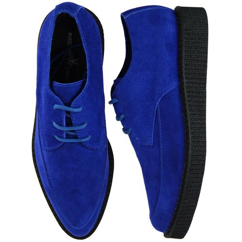 Madcap England Stray Cat Vintage 50s Blue Suede Creeper Shoes