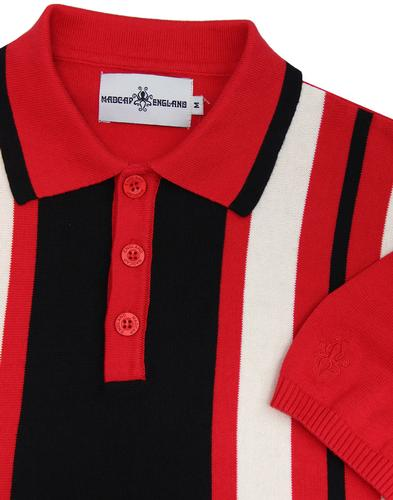 madcap england folklore mod stripe knit polo red
