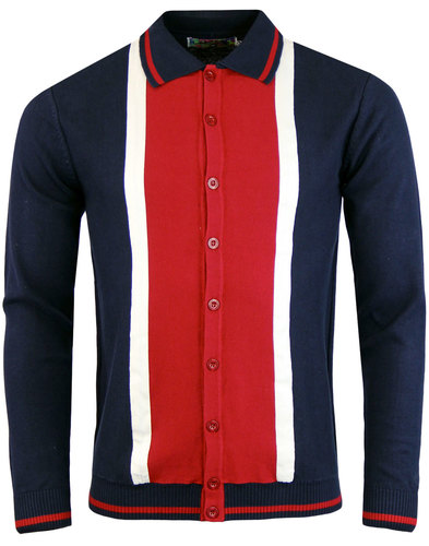 madcap england marriott suede polo cardigan navy