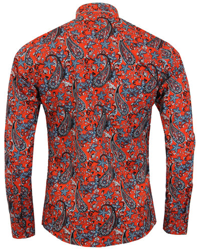 madcap england tabla paisley retro mod shirt red