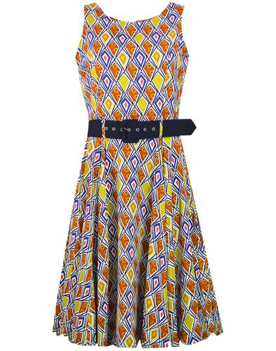 Aztec MADCAP ENGLAND 60s Tribal Print Circle Dress