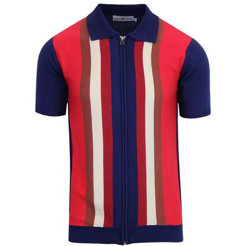 Mens Mod Polos Shop Retro Knitted 70s Style Marriott Polos