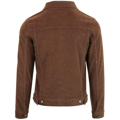 Madcap England Woburn Retro 1960s Mod Needle Cord Western Jacket in Cocoa Brown