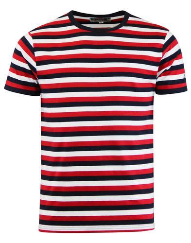 Madcap England Men 39 S Bande Retro Mod 60s Tri Stripe T Shirt
