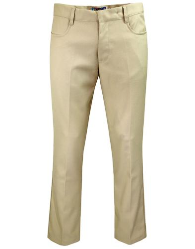 madcap england logan hopsack bootcut trousers sand