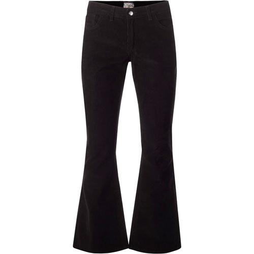 madcap england mens killer retro cord flared trousers black