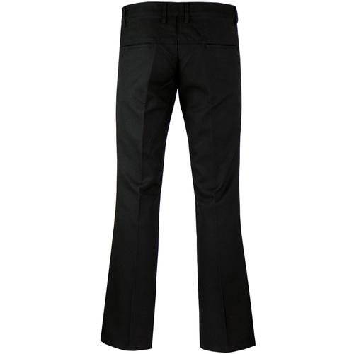 madcap england new logan bootcut hopsack trousers black