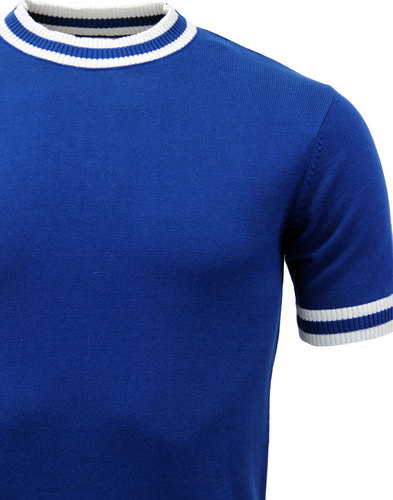 MADCAP ENGLAND MOON RETRO MOD KNITTED TIPPED TEE