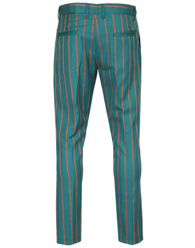 madcap england offbeat mod slim stripe trousers